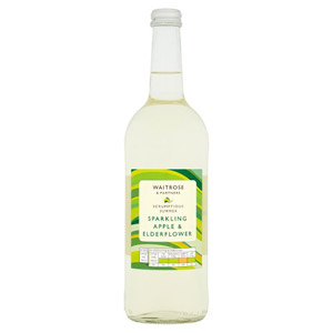 Waitrose Sparkling Spring Water with Apple & Elderflower