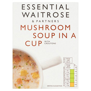 essential Waitrose Cup Soup Mushroom 4 Pack