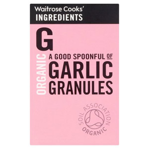 Waitrose Cooks Ingredients Organic Garlic Granules