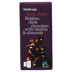 Waitrose Belgian Dark Chocolate Raisins & Almonds