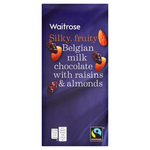 Waitrose Belgian Milk Chocolate Raisins & Almonds