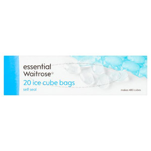 essential Waitrose Ice Cube Bags 20s