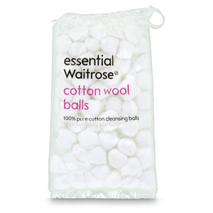 essential Waitrose Cotton Wool Balls 100s