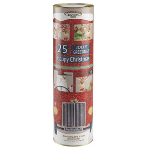 Farmhouse Chocolate Chip Biscuits Giant Santa Bus Tube