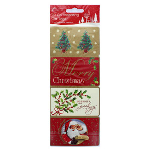 Tom Smith Elegant Traditions Self Adhesive Gift Tags 20 Pack
