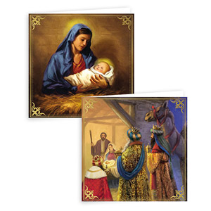 Gift Maker Traditional Religious Christmas Cards 10 Pack