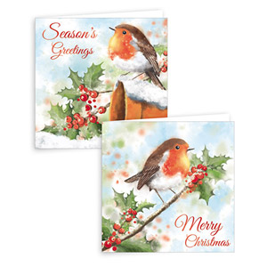 Gift Maker Traditional Robin Christmas Cards 10 Pack