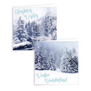 Gift Maker Photographic Winter Scene Christmas Cards 10 Pack