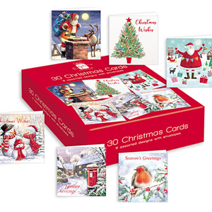 Gift Maker Bumper Box 30 Christmas Cards 6 Designs
