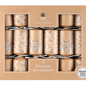 Tom Smith Sustainable Kraft Stag Collection Crackers 6 Pack