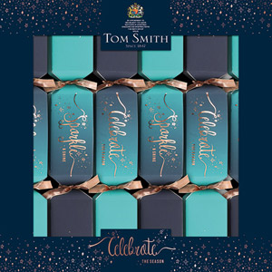 Tom Smith Novelty Game Crackers Teal Ombre 6 Pack