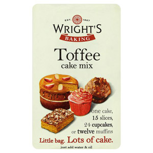 Wrights Toffee Cake Mix