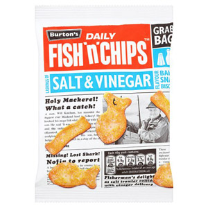 Burtons Fish & Chips Salt & Vinegar Single Bag