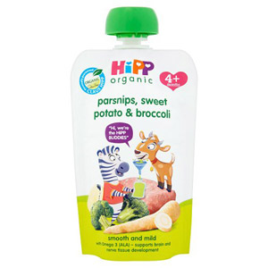 Hipp 4 Month Organic Parsnips Sweet Potato & Broccoli Pouch