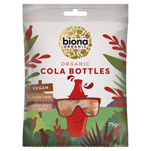 Biona Organic Vegan Sweets Cool Cola Bottles