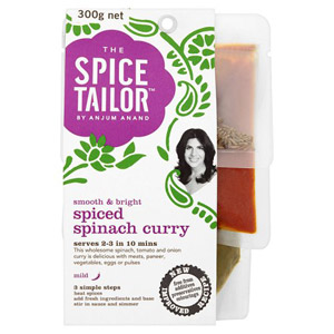 The Spice Tailor Curry Kit Spiced Spinach