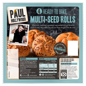 Paul Hollywood 6 Ready To Bake Multi Seed Rolls