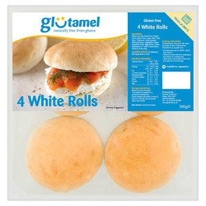 Glutamel Part Baked Rolls 4 Pack