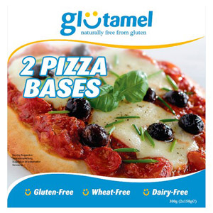 Glutamel Part Baked Pizza Bases 2 Pack