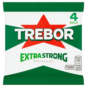 Trebor Extra Strong Peppermint Mints 4 Pack