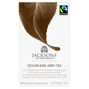 Jacksons Of Piccadilly Ceylon Earl Grey 20 Pack