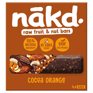 Nakd Free From Cocoa Orange 4 Pack
