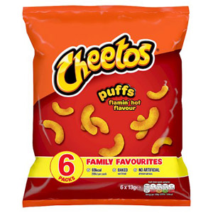 Cheetos Flamin Hot Puffs 8 Pack