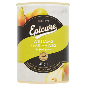 Epicure William Pear Halves in Juice