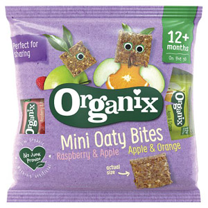 Organix 12 Month Apple & Orange Mini Oaty Bites