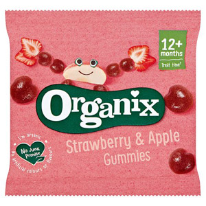 Organix 12 Month Fruit Gummies Strawberry 12g