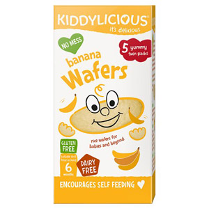 Kiddylicious 6 Month Wafers Banana 5 Pack
