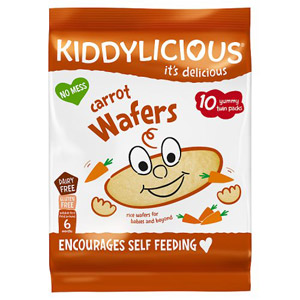 Kiddylicious 6 Month Wafers Carrot 10 Pack