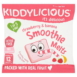 Kiddylicious 12 Month Smoothie Melts Strawberry & Banana 6g