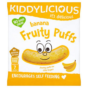 Kiddylicious 12 Month Fruity Puffs Banana
