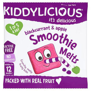 Kiddylicious 12 Month Smoothie Melts Blackcurrant & Apple