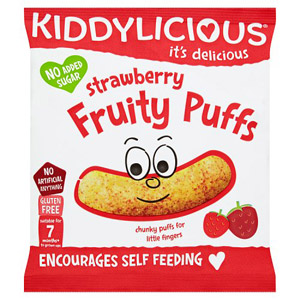 Kiddylicious 12 Month Fruity Puffs Strawberry
