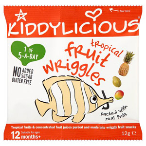 Kiddylicious 12 Month Fruit Wriggles Tropical