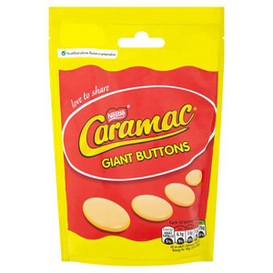 Nestle Caramac Giant Buttons Bag