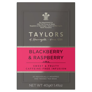 Taylors Blackberry & Raspberry 20 Tagged Teabags
