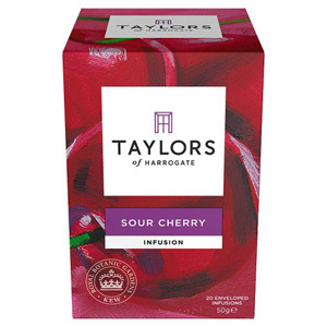 Taylors Sour Cherry 20 Tagged Teabags