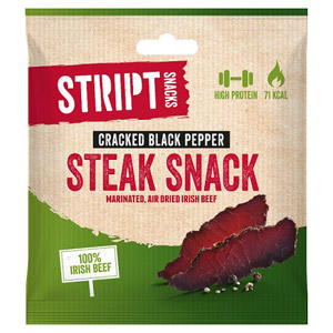 Stript Snacks Cracked Black Pepper Biltong