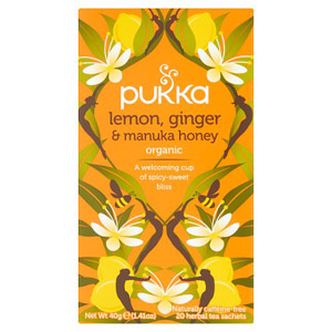 Pukka Organic Lemon Ginger & Manuka Honey Tea Bags 20 Pack