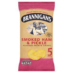 Brannigans Ham & Pickle 5 Pack