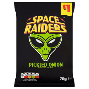 Space Raiders Pickled Onion Price Marked