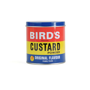 Birds Custard Canister