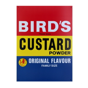 Birds Custard Large Tin Sign