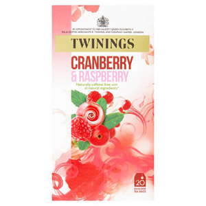 Twinings Cranberry & Raspberry Tagged Tea Bags 20 Pack