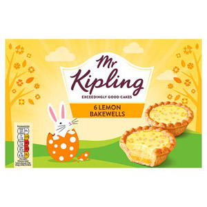 Mr Kipling Easter Lemon Bakewells 6 Pack
