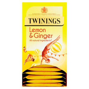 Twinings Lemon & Ginger 20 Tagged Tea Bags