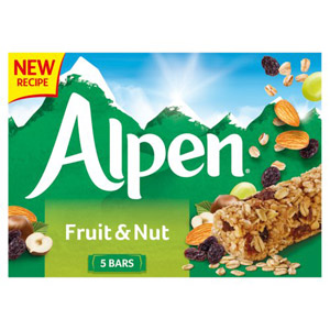 Alpen Fruit & Nut Cereal Bars 5 Pack